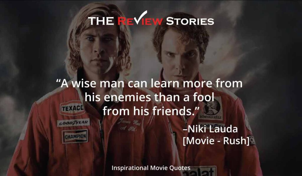 Rush movie quotes, niki lauda