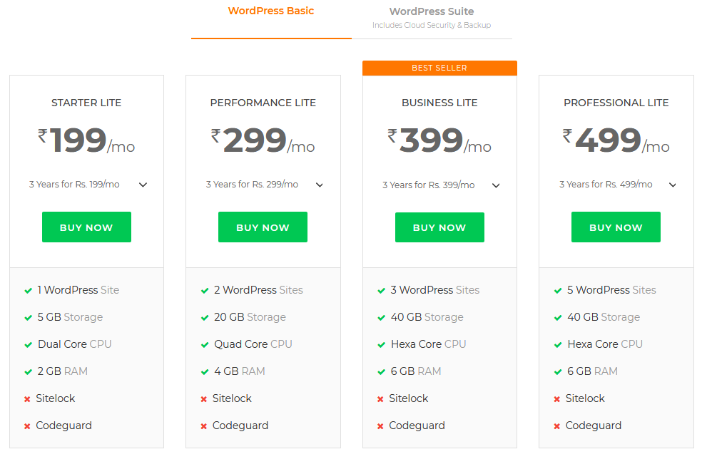 wordpress bigrock hosting
